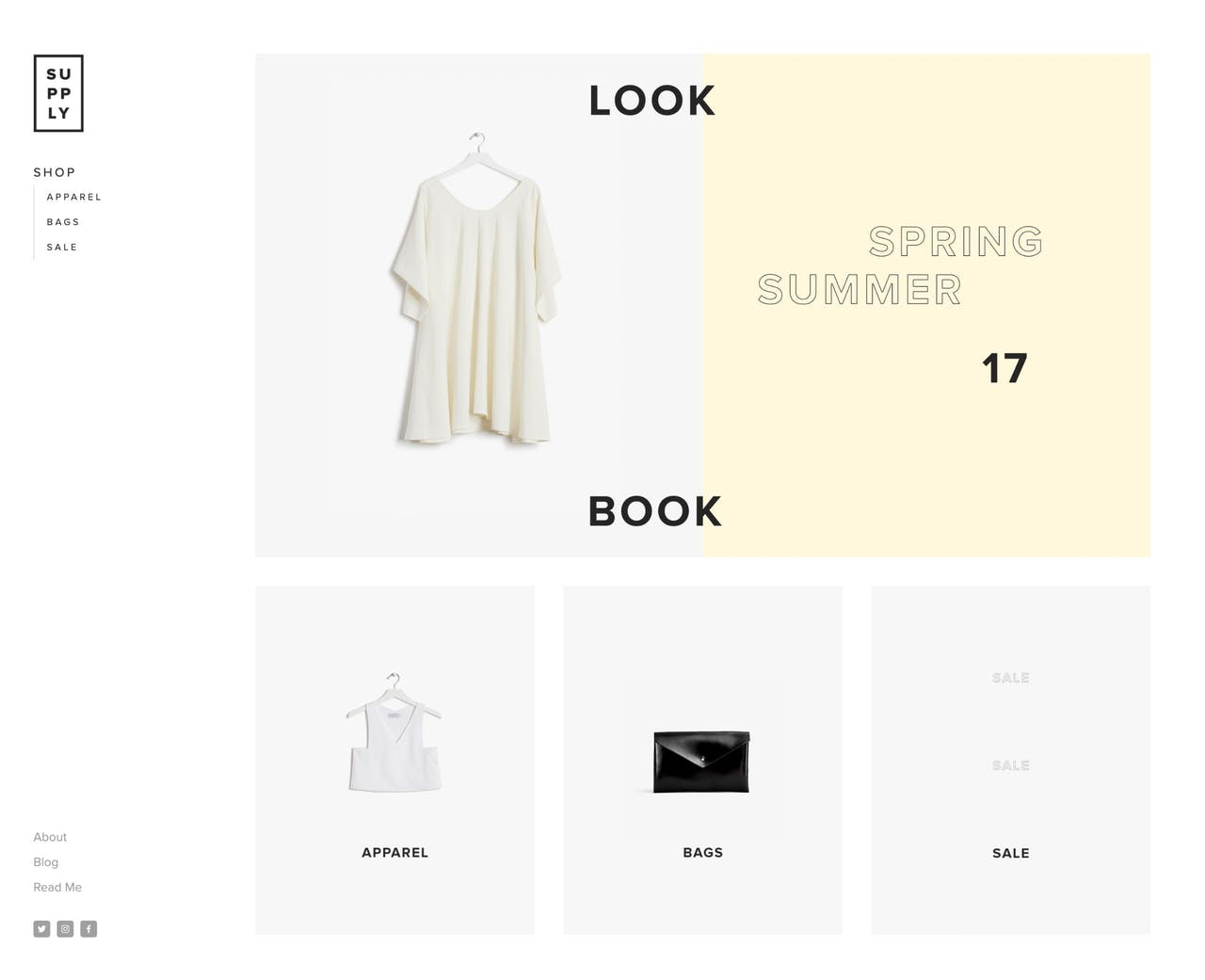 Squarespace Supply Template - Home Page Screenshot