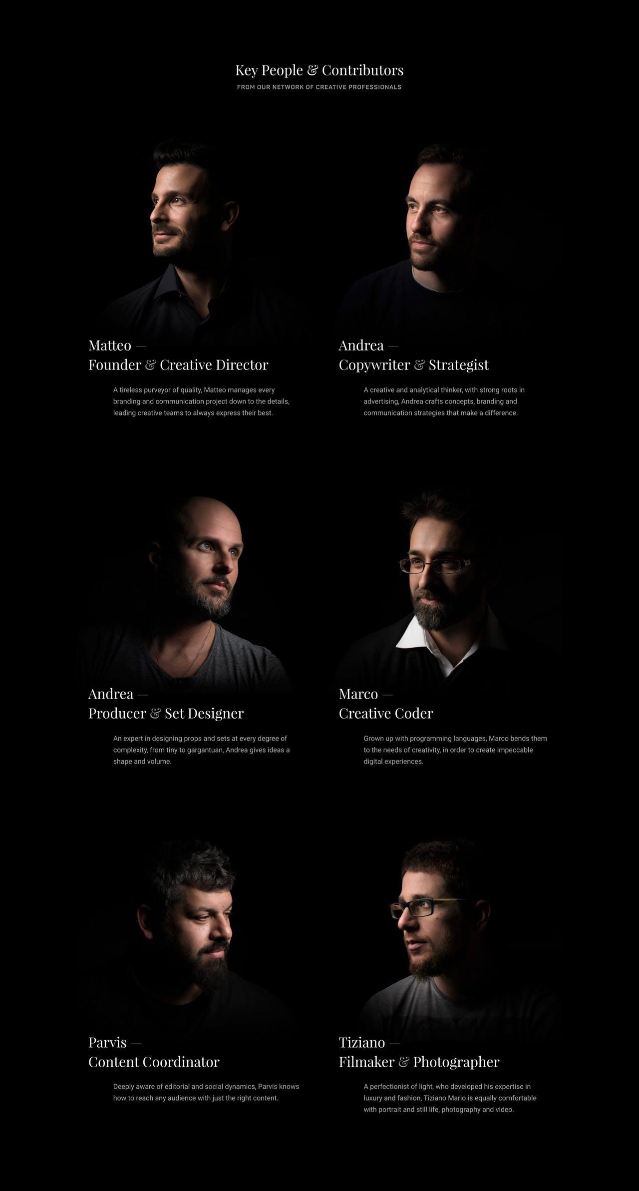 Team Section - Sublimio Screenshot