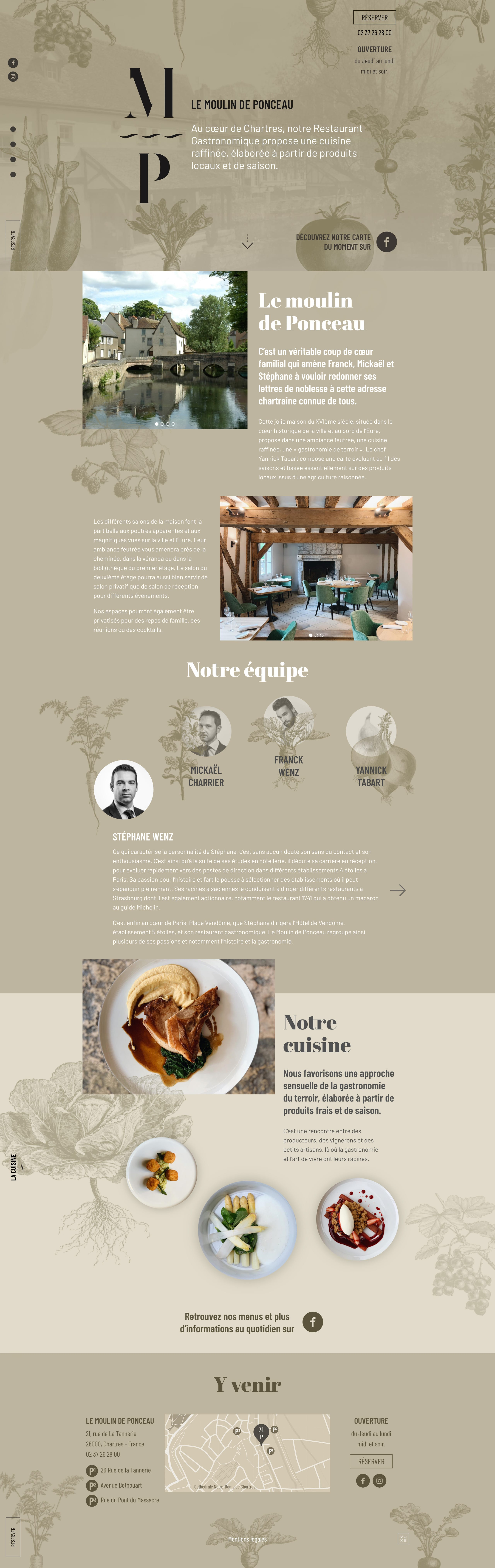 Le Moulin de Ponceau Website Screenshot