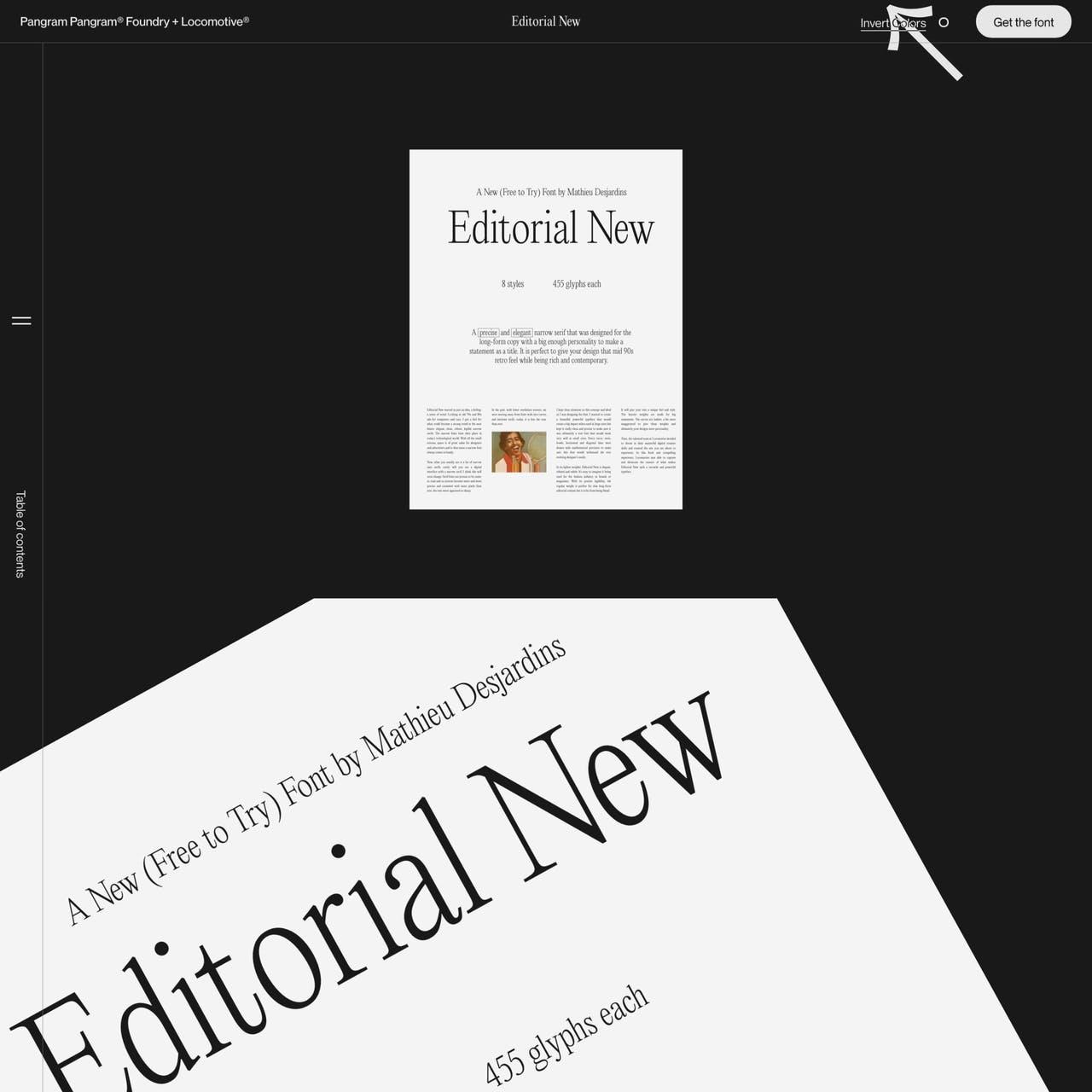 Editorial New Website Screenshot