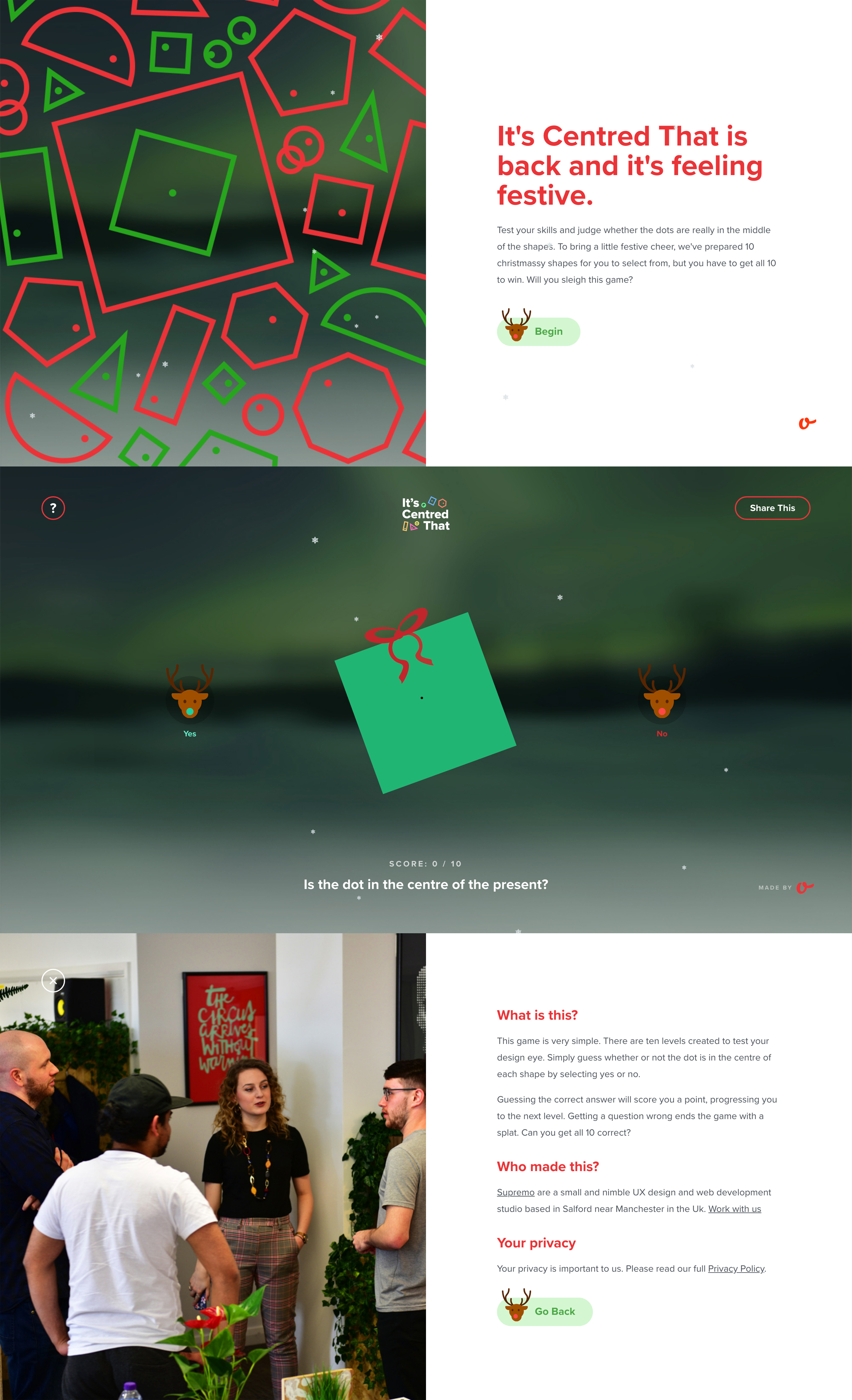 It's Centred That Xmas Website Screenshot