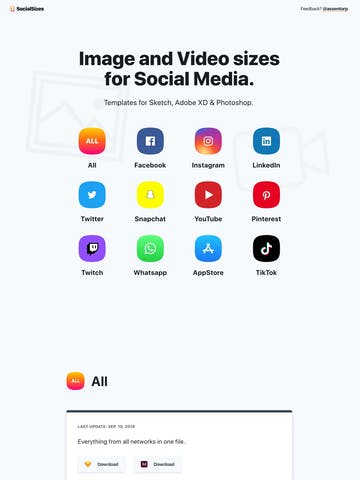 SocialSizes 2.0 Thumbnail Preview