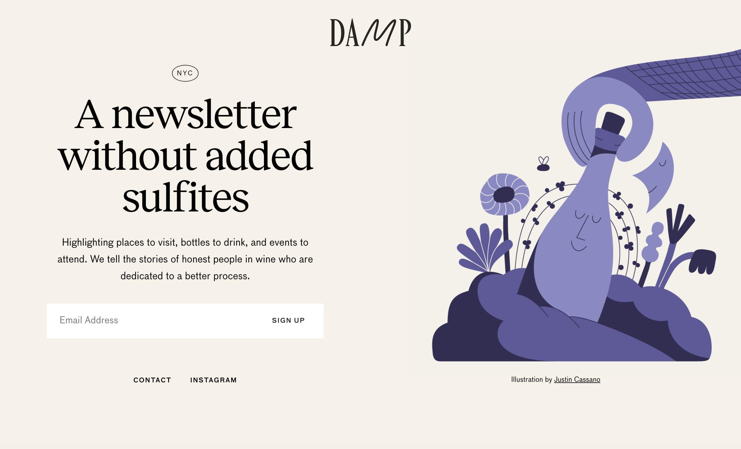 DAMP Website Screenshot