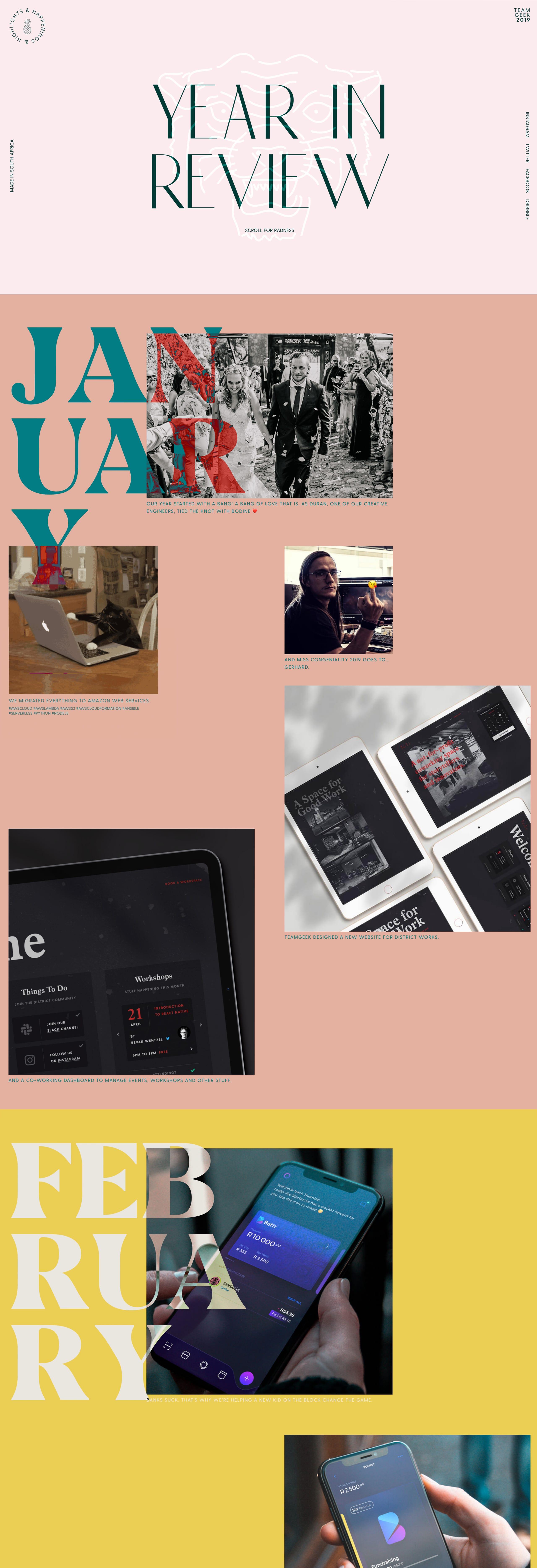 Teamgeek – Year In Review 2019 Website Screenshot