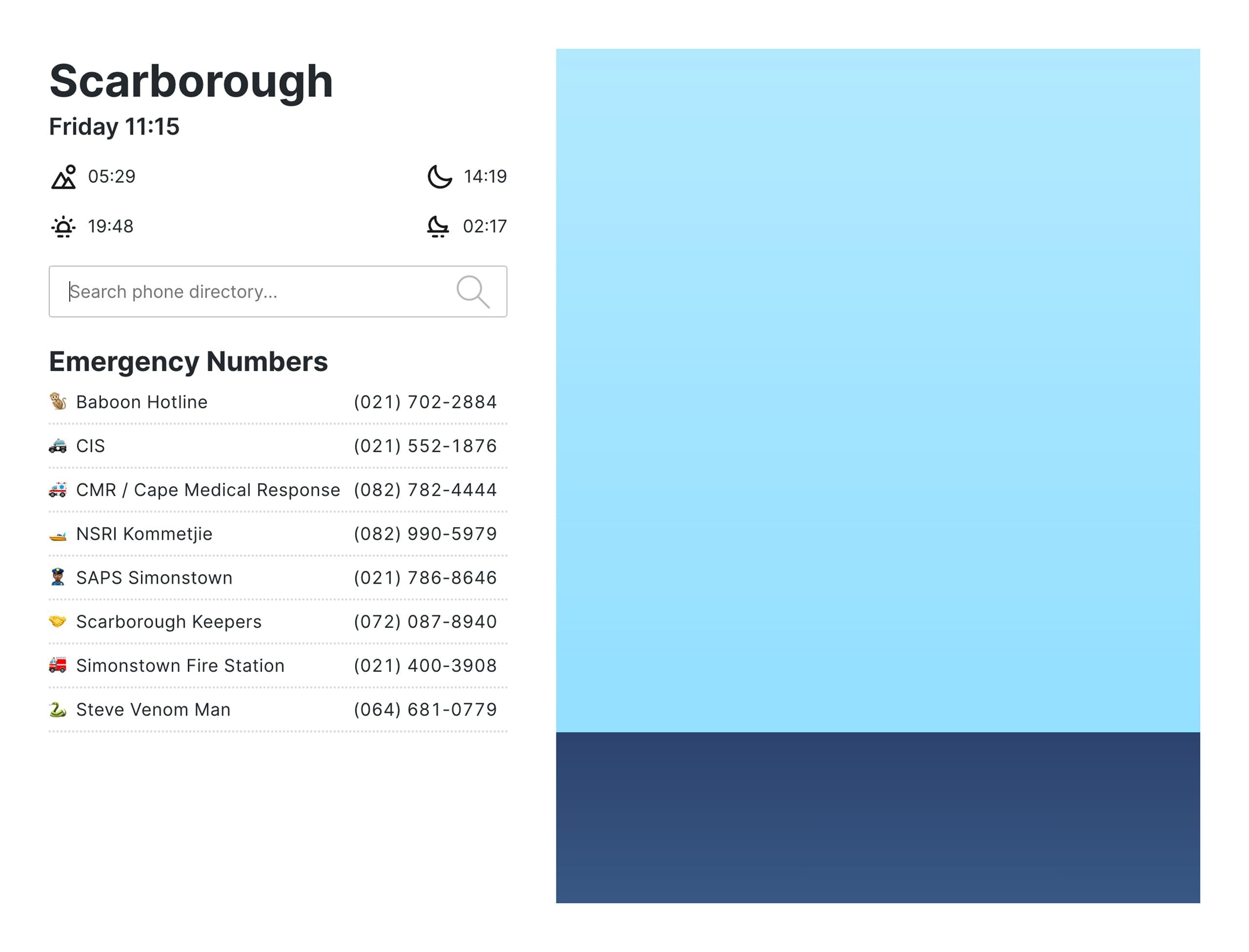 Scarborough Information Website Screenshot