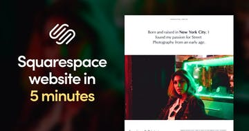 How to create your first Squarespace site in under 5 minutes [video]