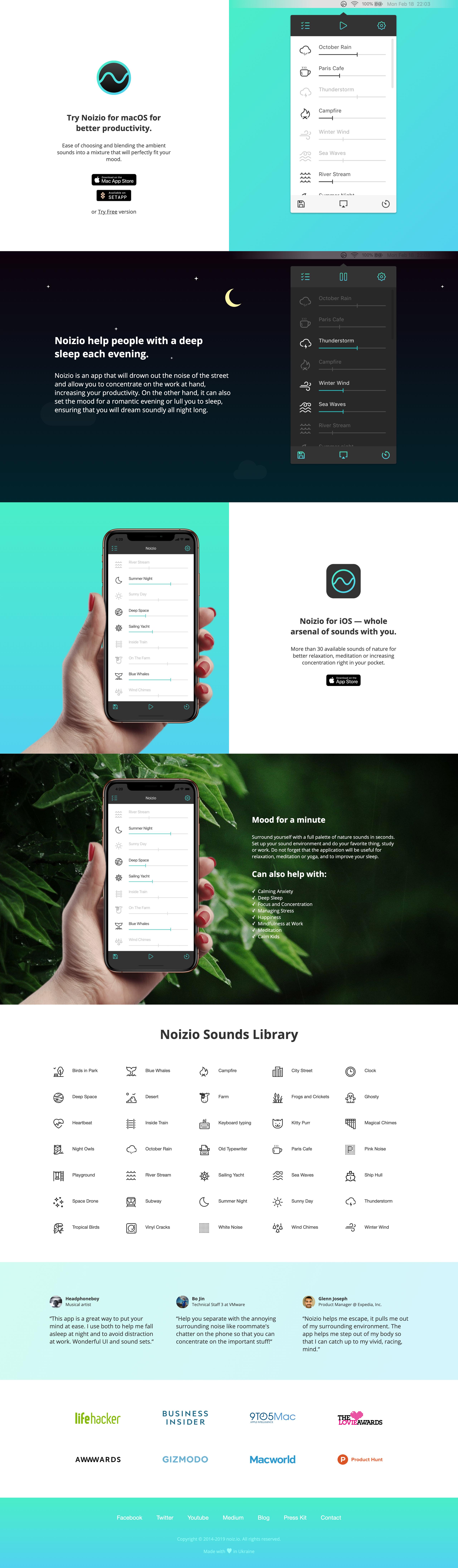 Noizio Website Screenshot
