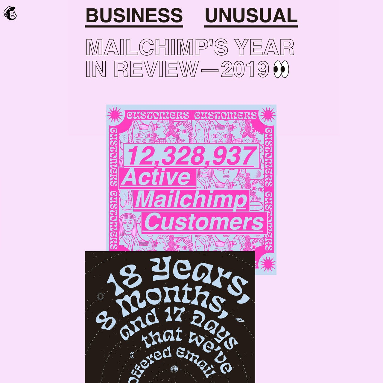 Mailchimp's 2019 Annual Report Website Screenshot