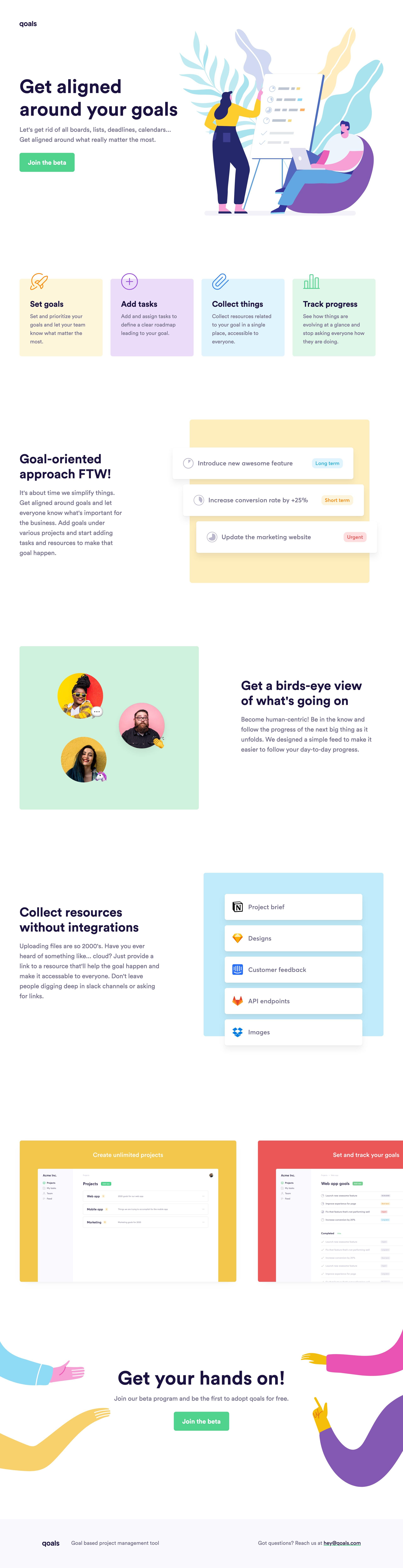 qoals Website Screenshot