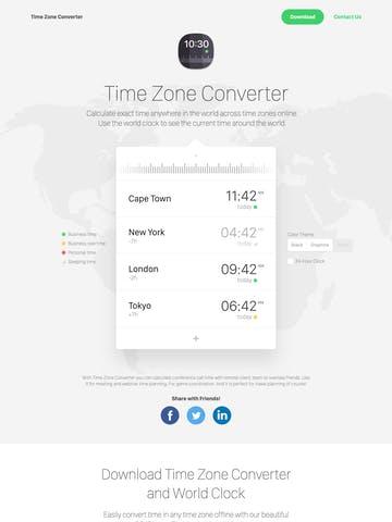Time Zone Converter Thumbnail Preview