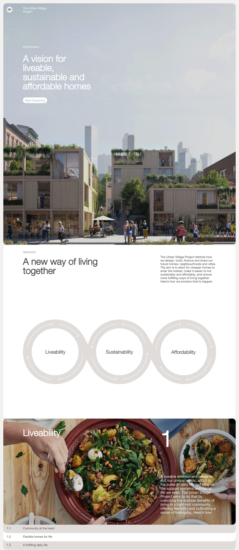 The Urban Village Project Website Screenshot