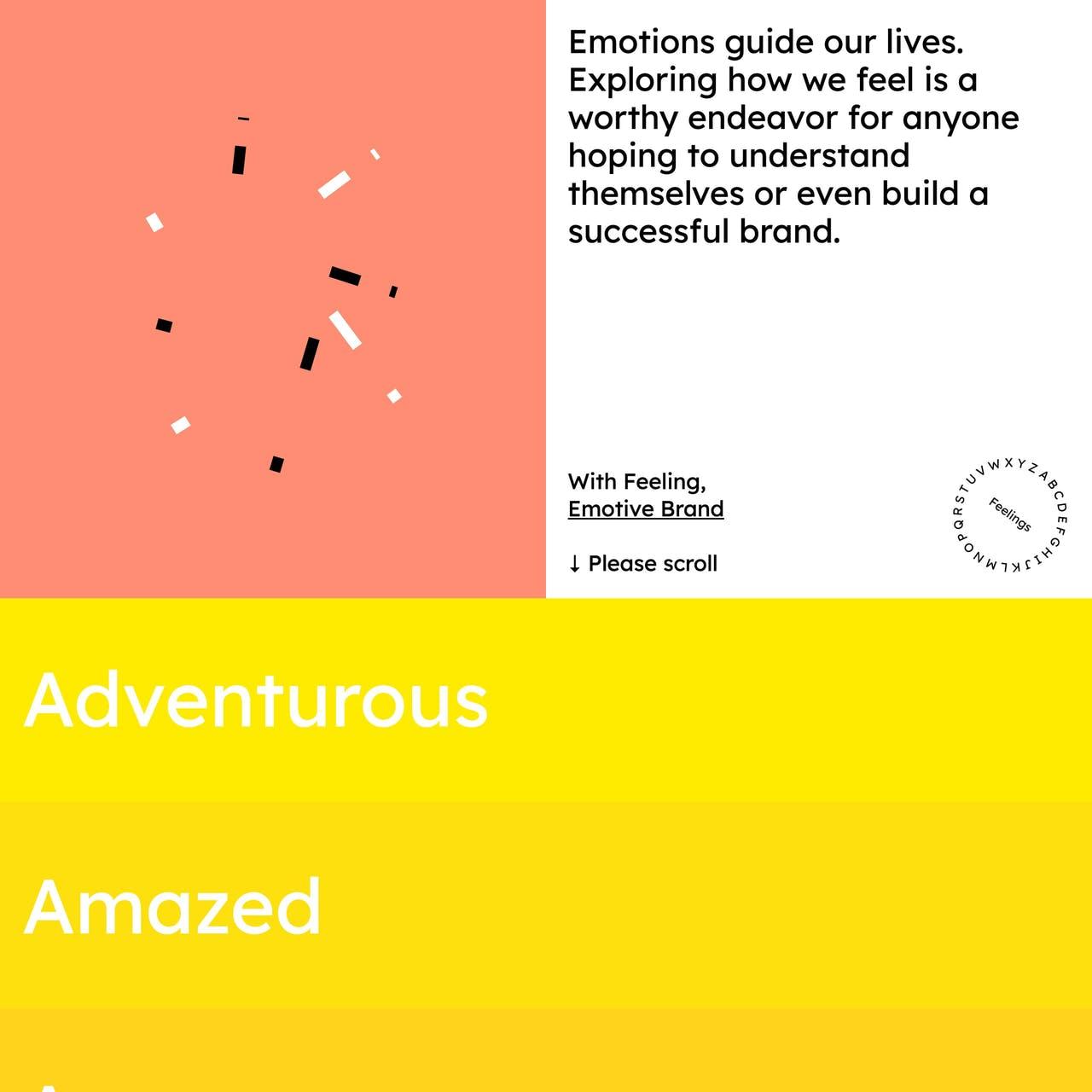 Emotive Feels Website Screenshot