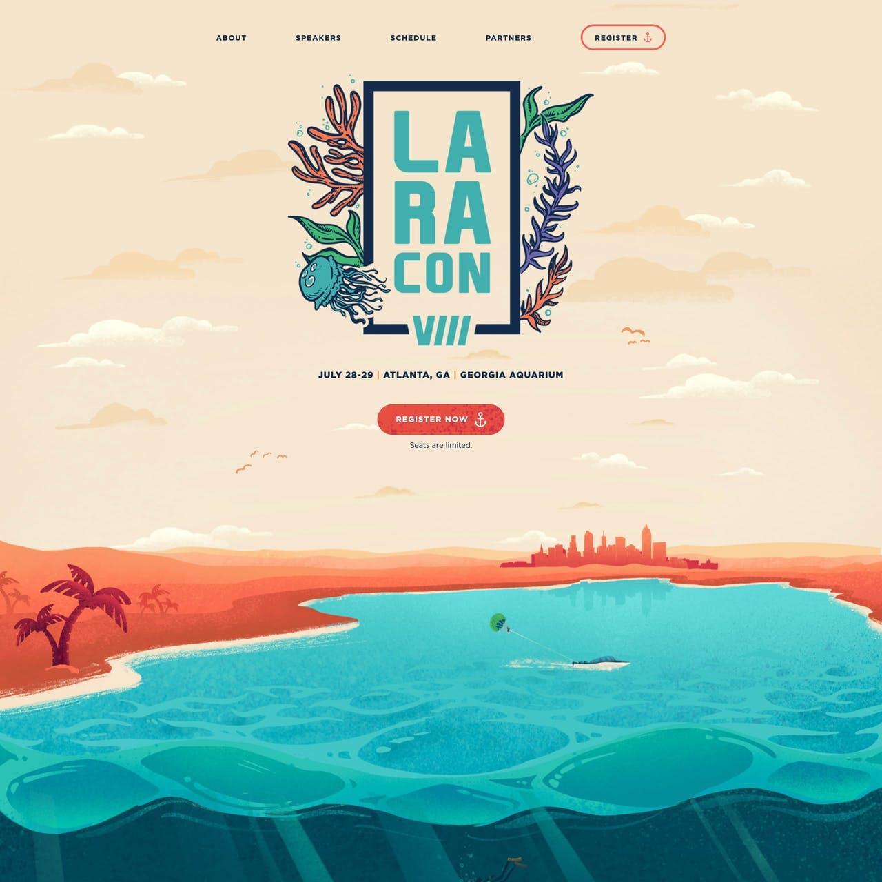 Laracon VIII Website Screenshot