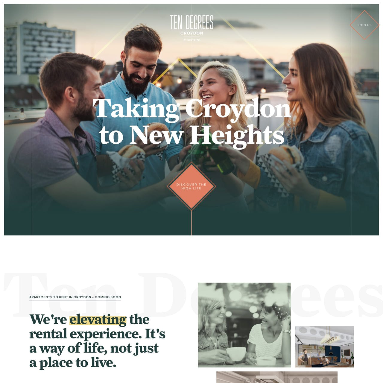 Ten Degrees Croydon Website Screenshot