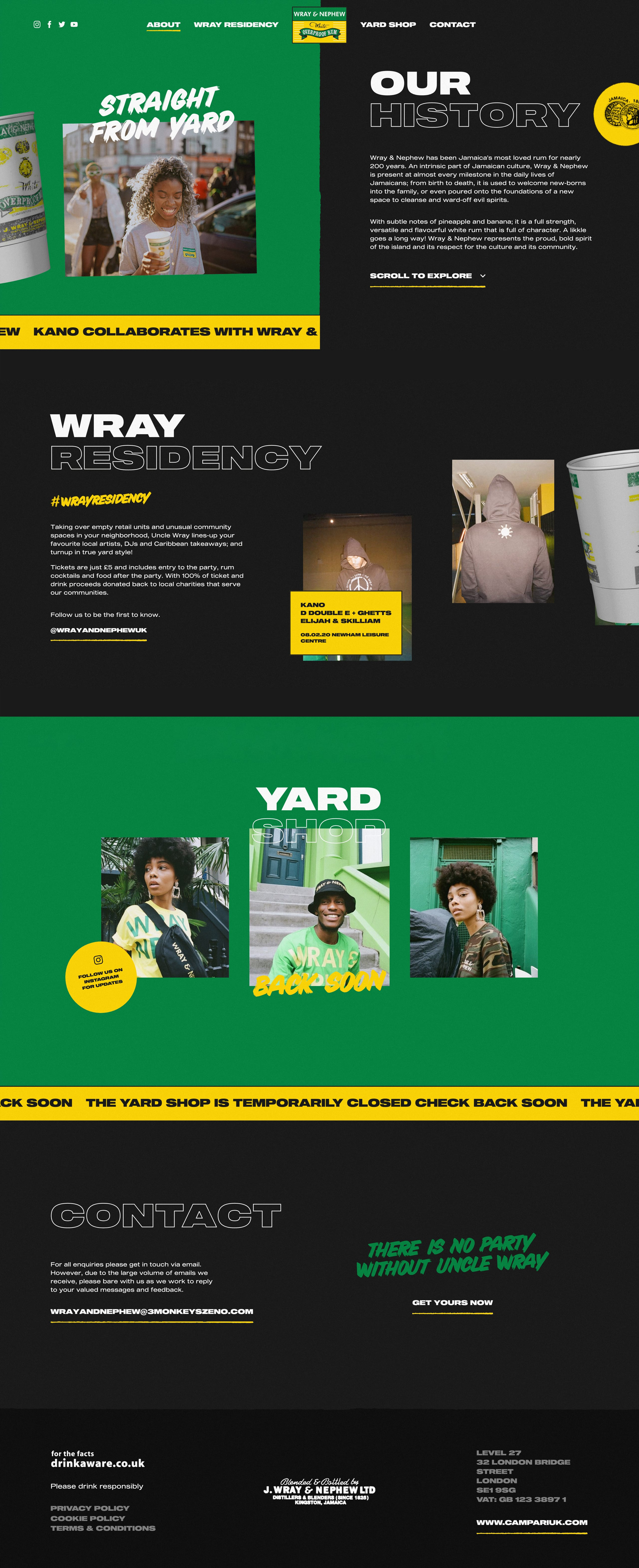Wray and Nephew Website Screenshot