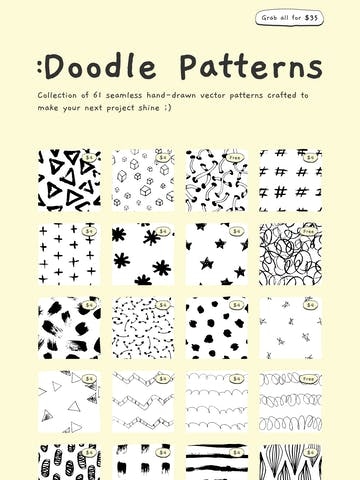 Doodle Patterns Thumbnail Preview