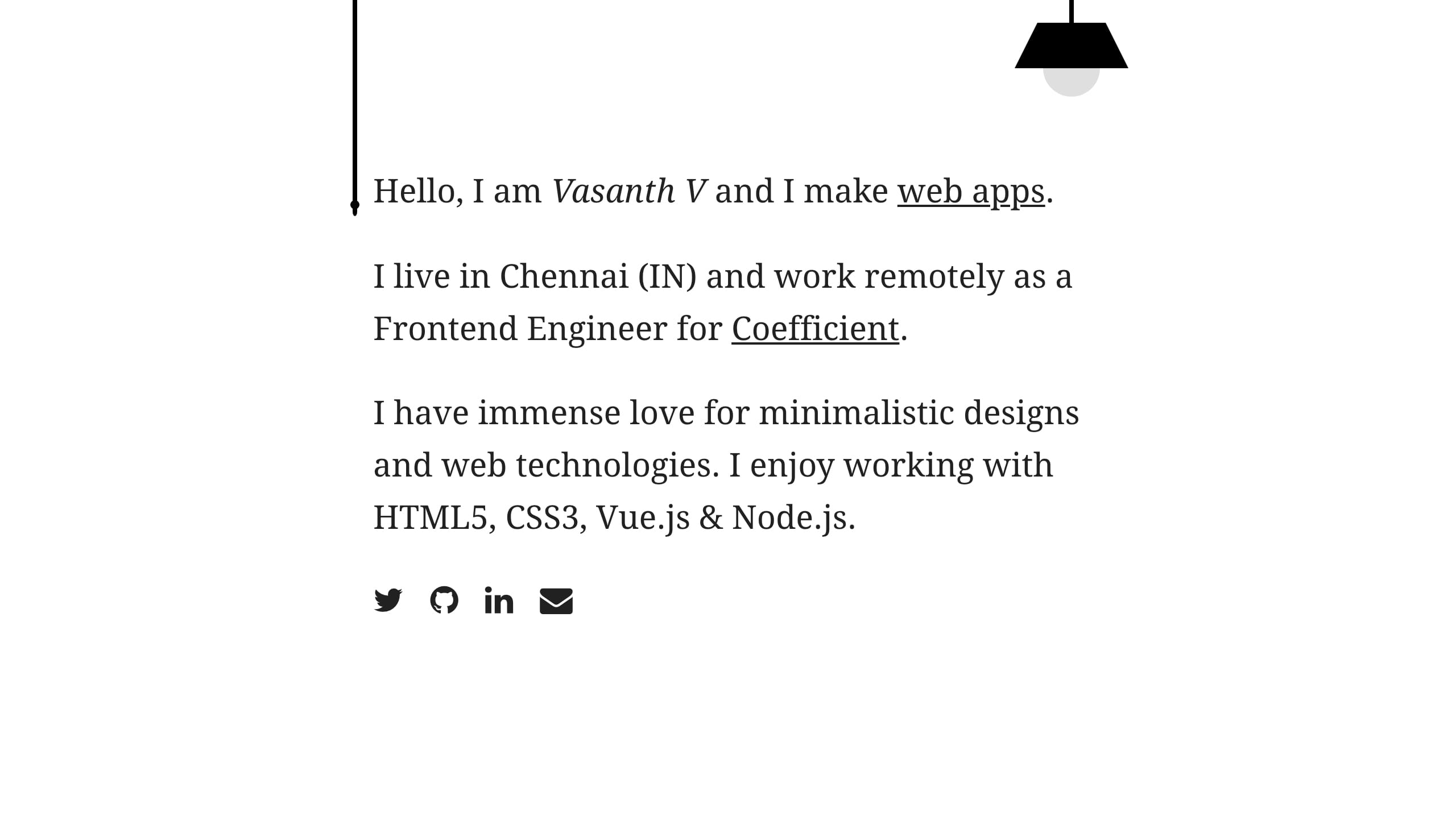 Vasanth V Website Screenshot