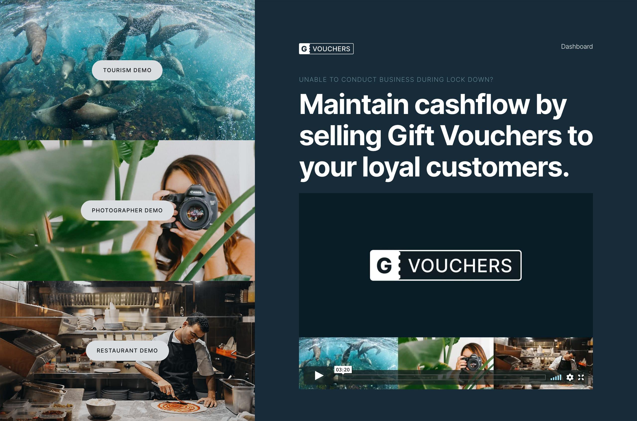 Gvouchers Website Screenshot