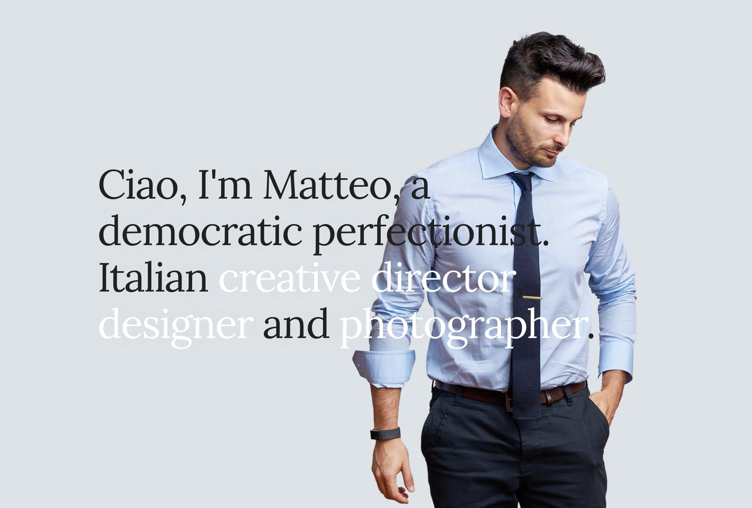 Matteo Modica Website Screenshot