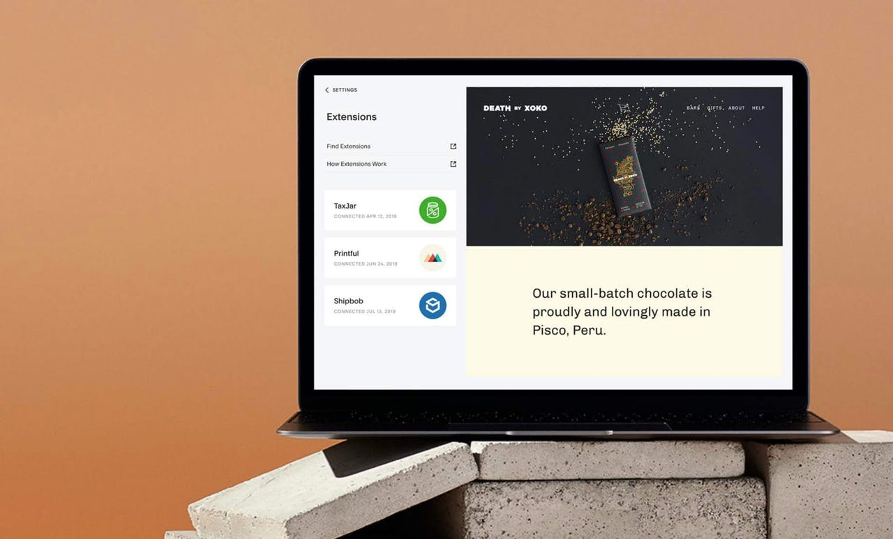 Squarespace Third-Party Extensions Screenshot