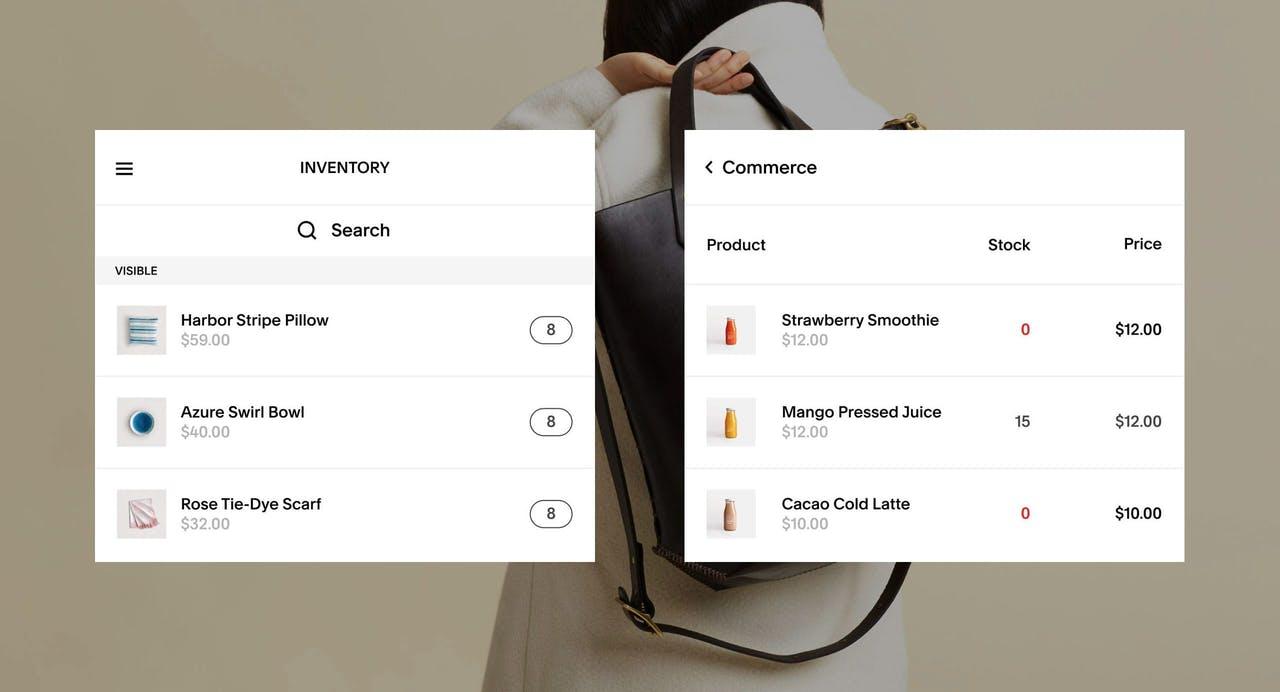 Squarespace Inventory Views Screenshot