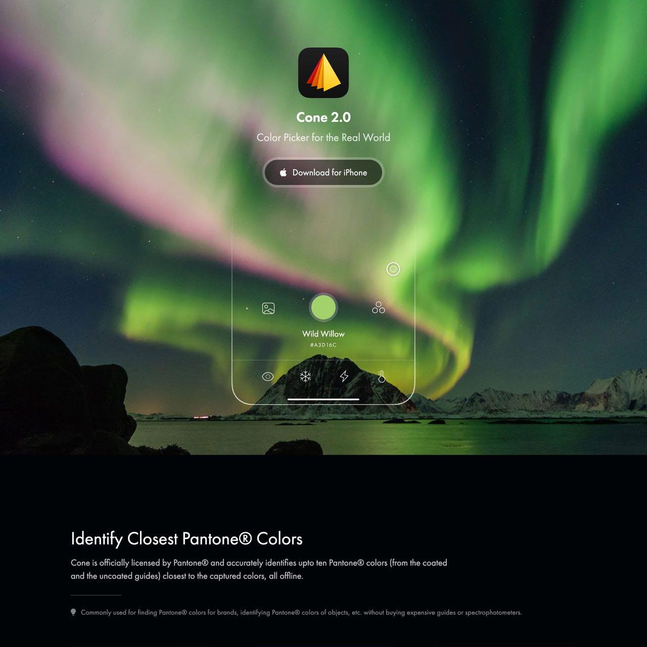 Cone Website Screenshot