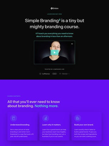 Simple Branding Course by Ention Thumbnail Preview
