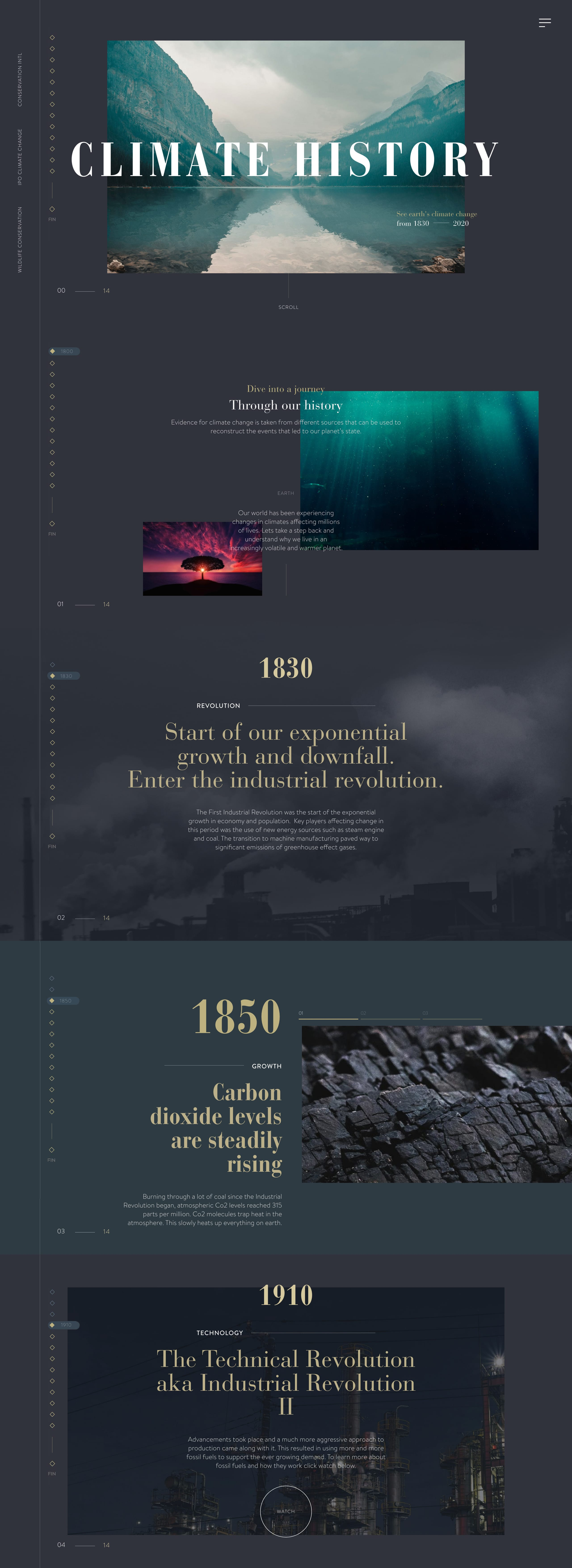 Climate History Website Screenshot