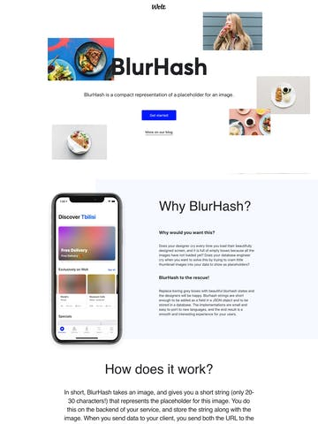 BlurHash Thumbnail Preview