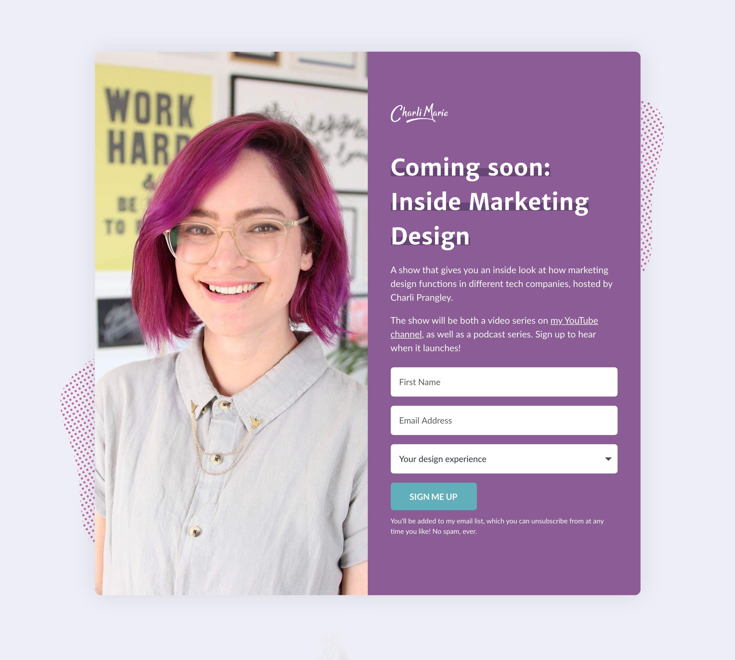 Inside Marketing Design Website Screenshot