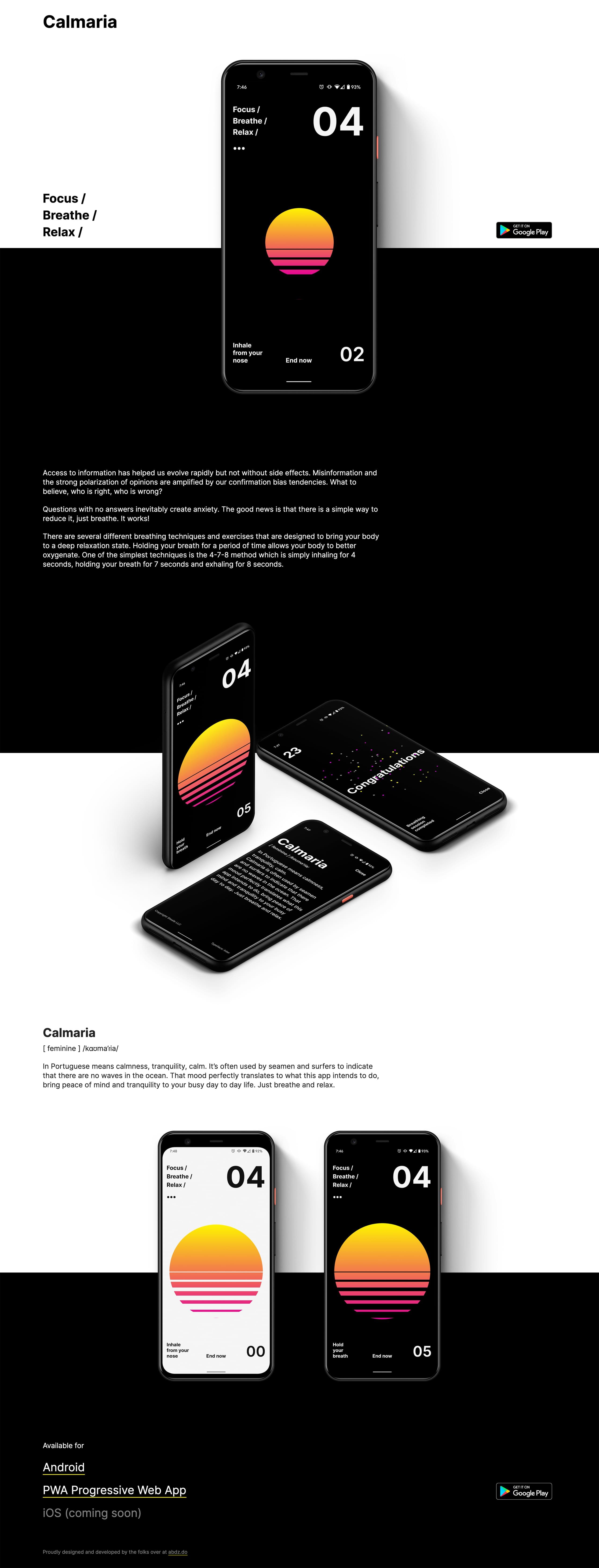 Calmaria Website Screenshot