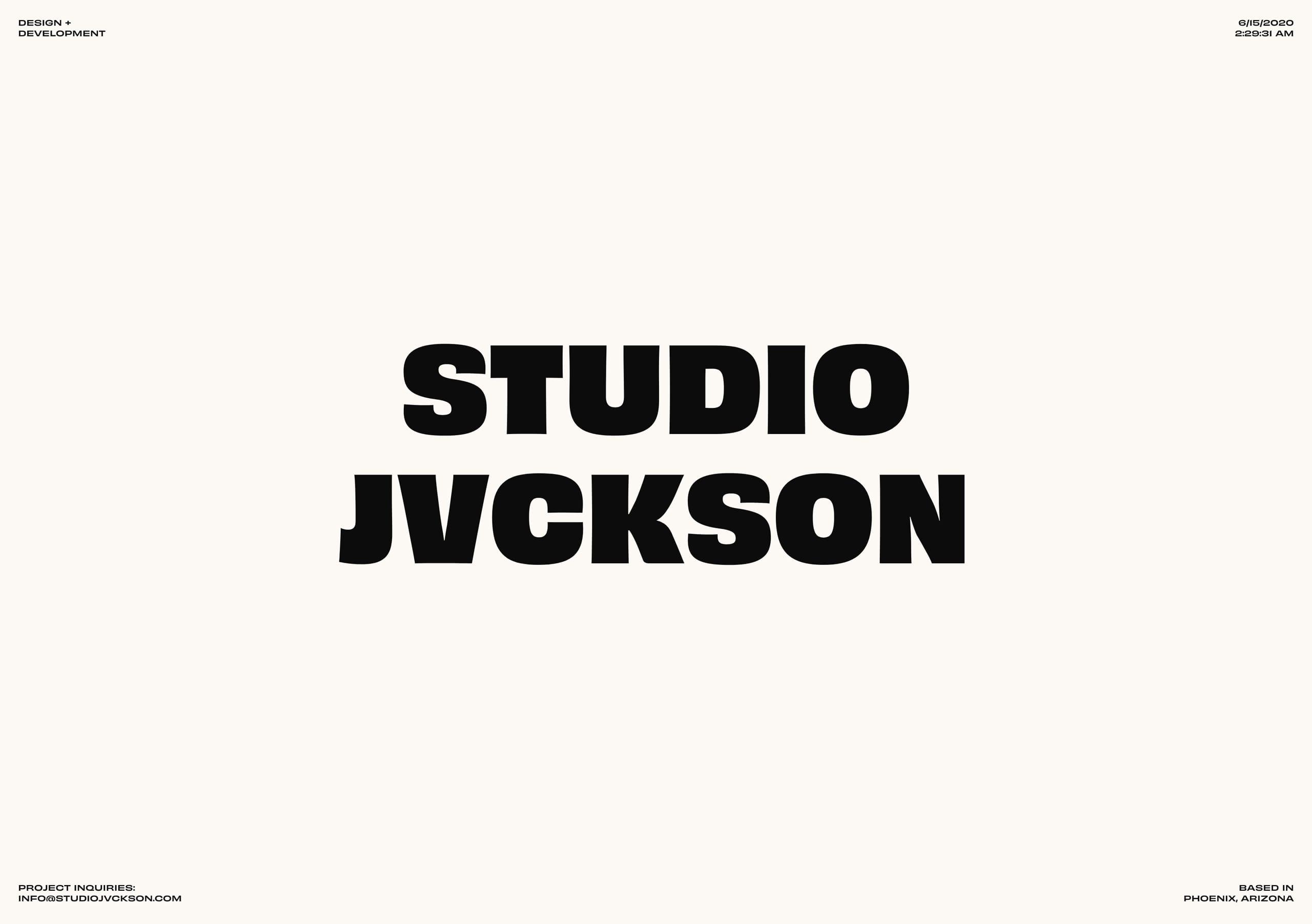 Studio Jvckson Website Screenshot