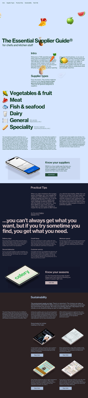 The Essential Supplier Guide Website Screenshot