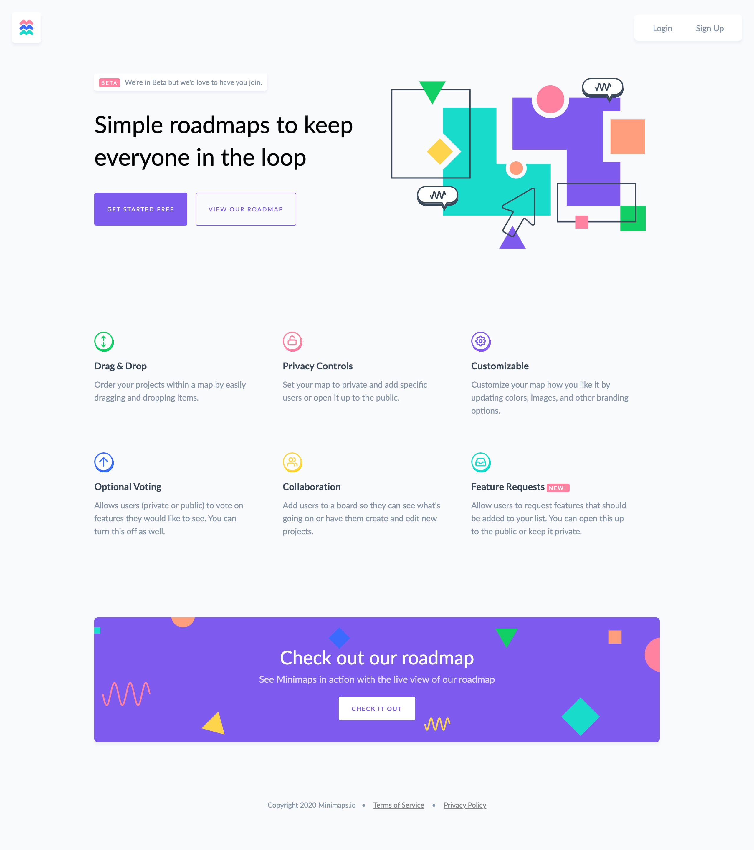 Minimaps Website Screenshot