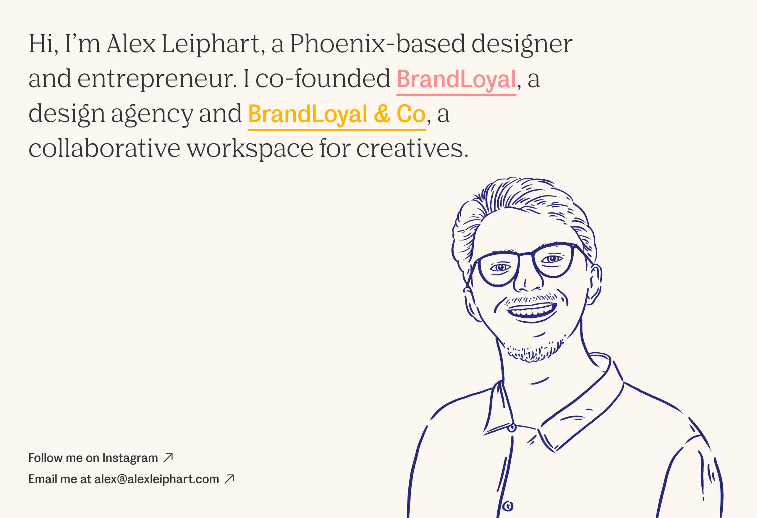 Alex Leiphart Website Screenshot