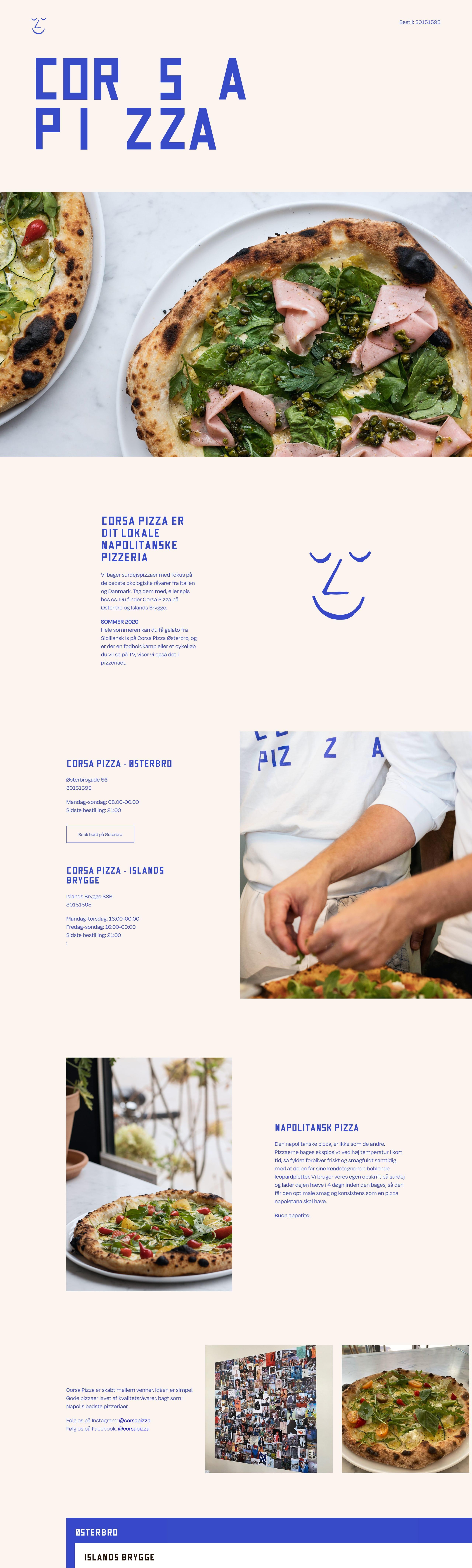 Corsa Pizza Website Screenshot