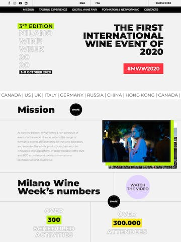 Milano Wine Week 2020 Thumbnail Preview