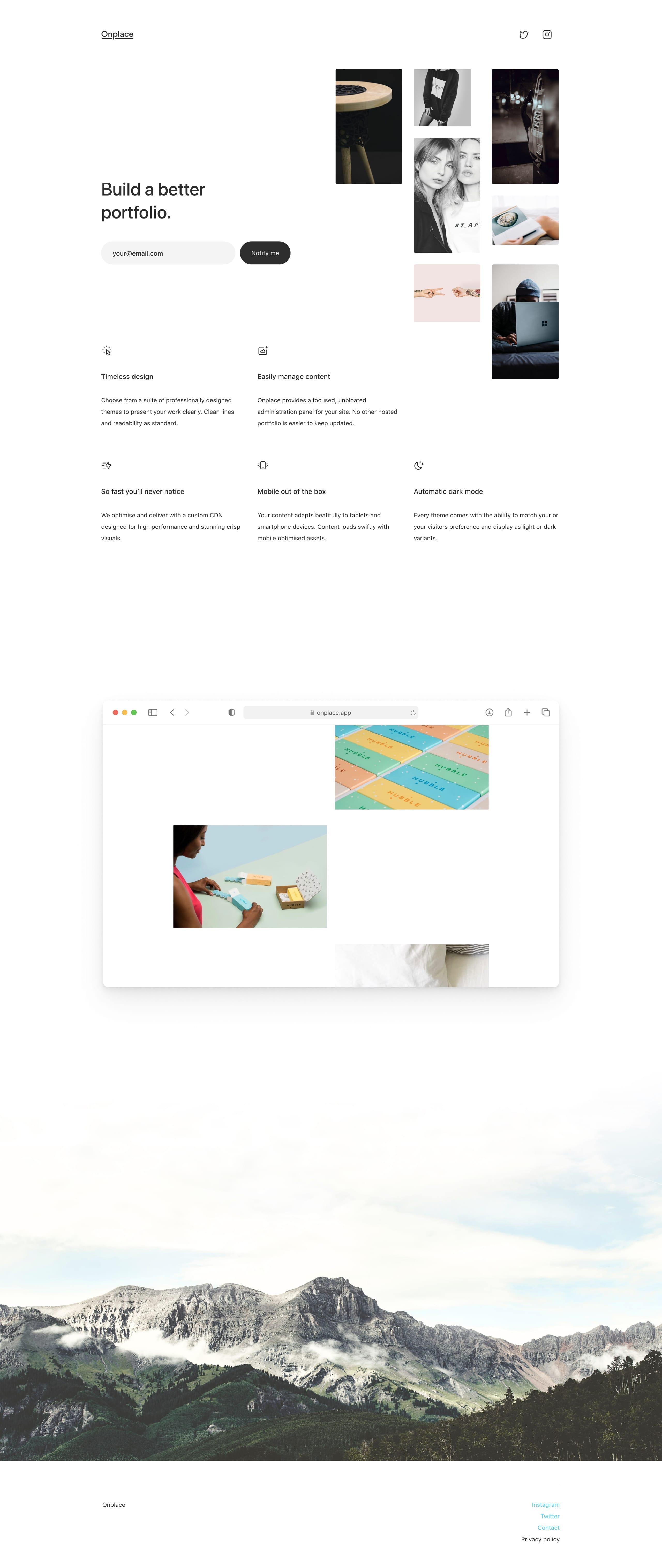 Onplace Website Screenshot