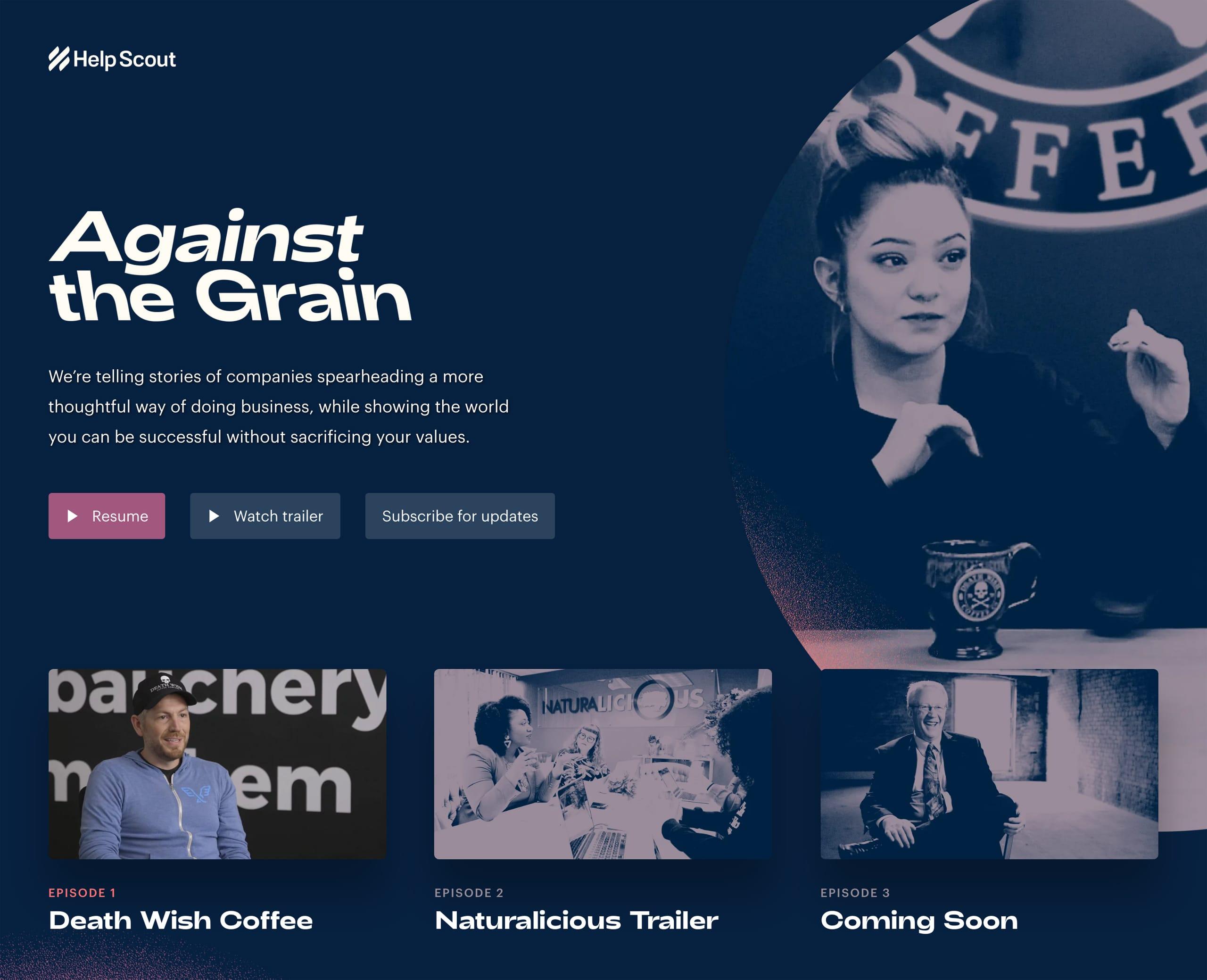 Against The Grain Website Screenshot