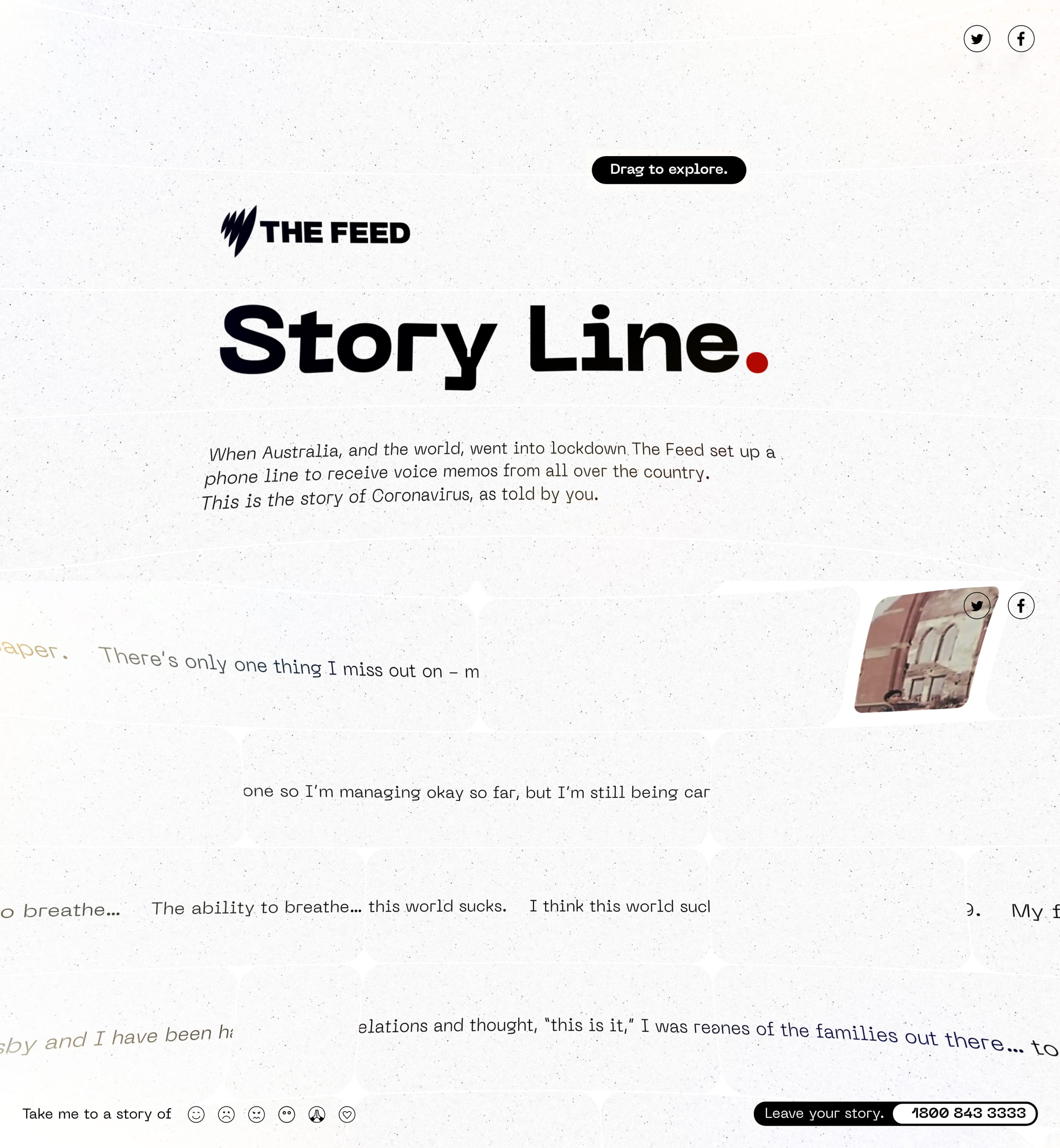 The Feed: Story Line Website Screenshot