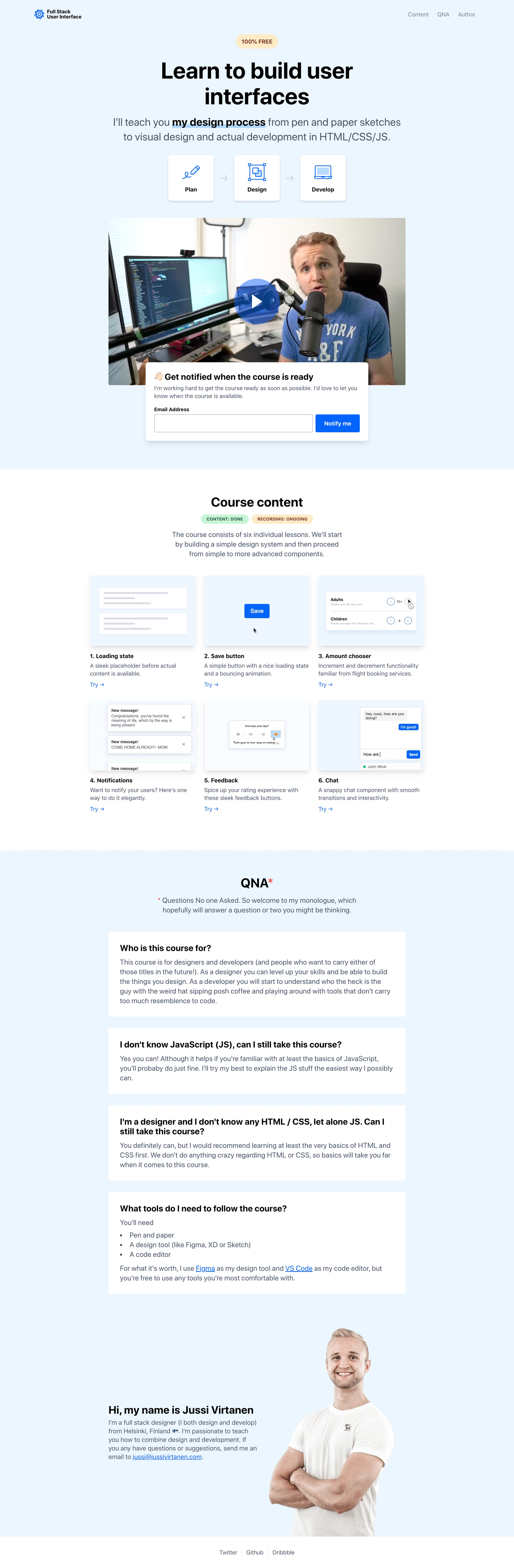 Full Stack UI Website Screenshot