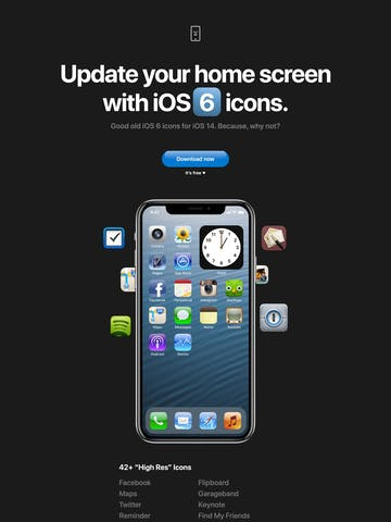 iOS 6 icons Thumbnail Preview