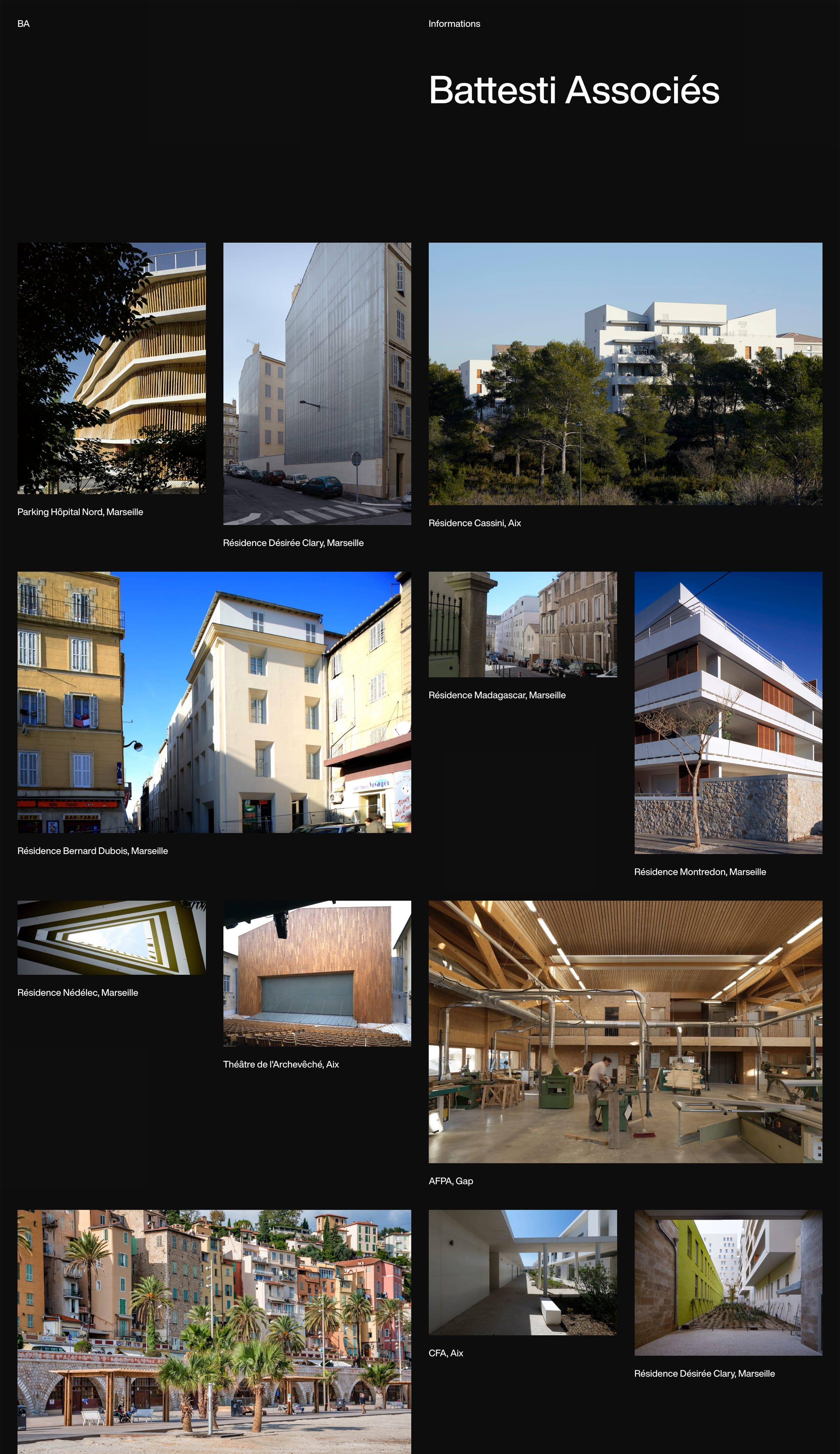 Battesti Associés Website Screenshot