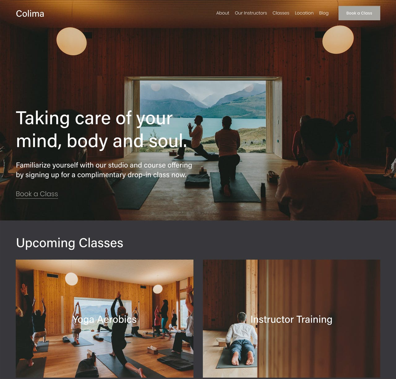 Squarespace Colima Template - Home Preview Screenshot