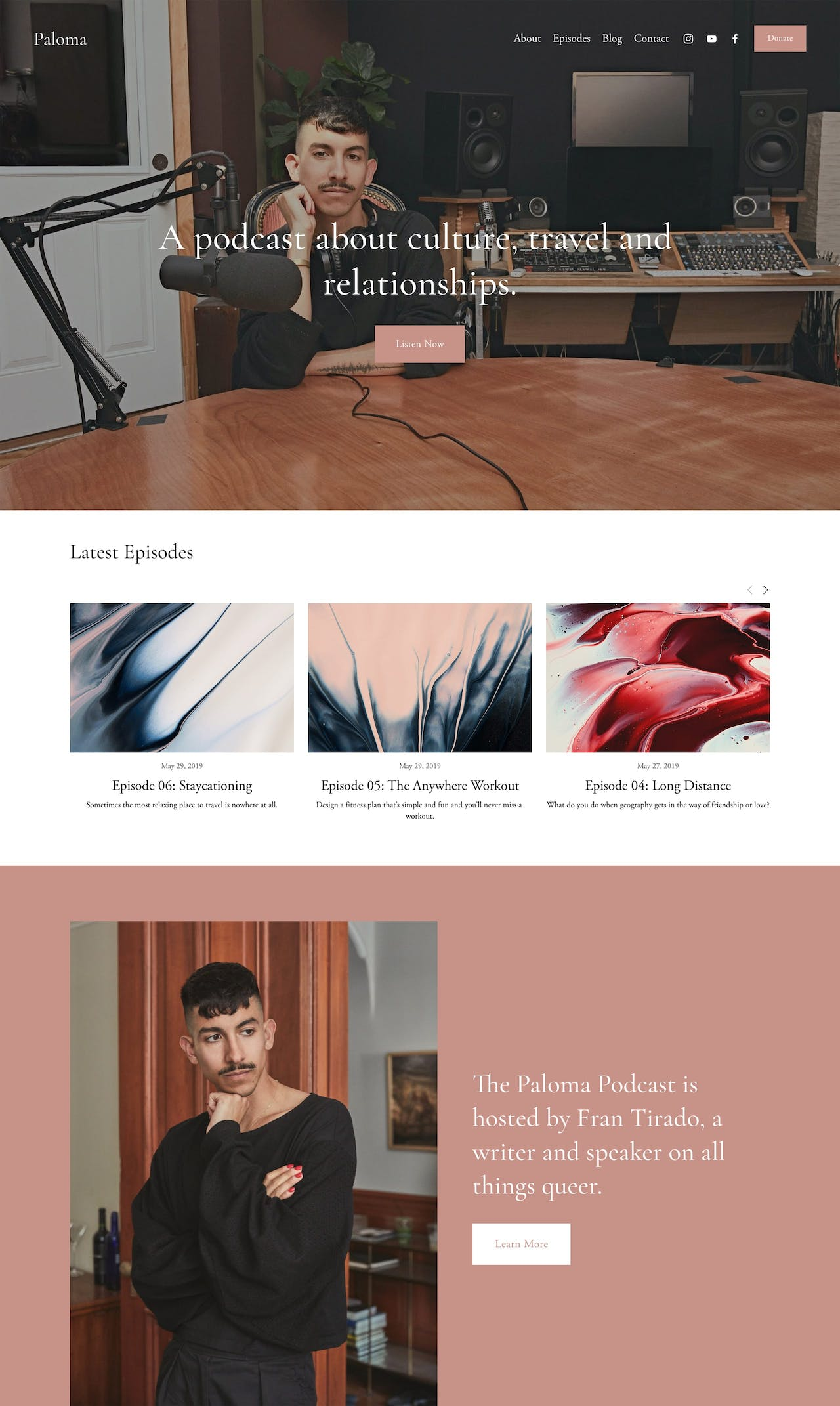 Squarespace Paloma Template - Preview Screenshot