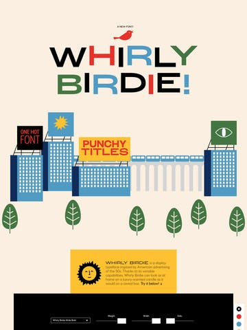Whirly Birdie Variable Font Thumbnail Preview