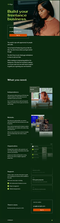 Align Website Screenshot
