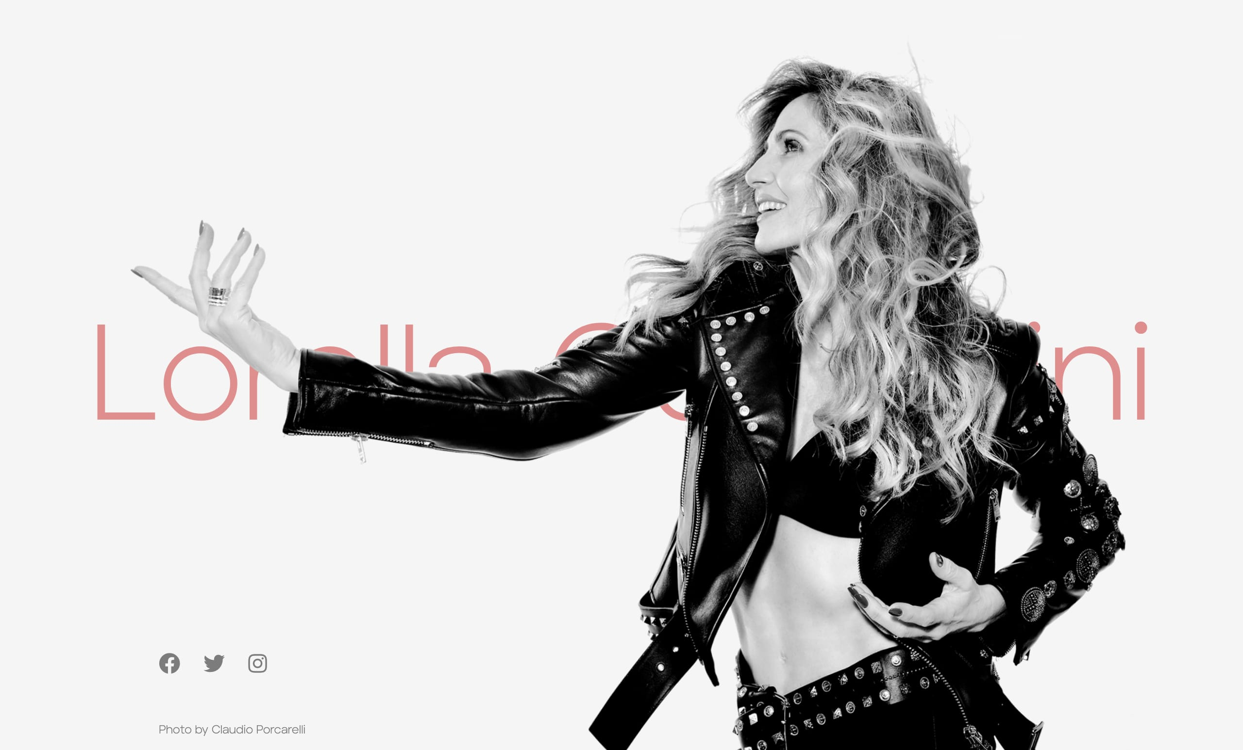 Lorella Cuccarini Website Screenshot