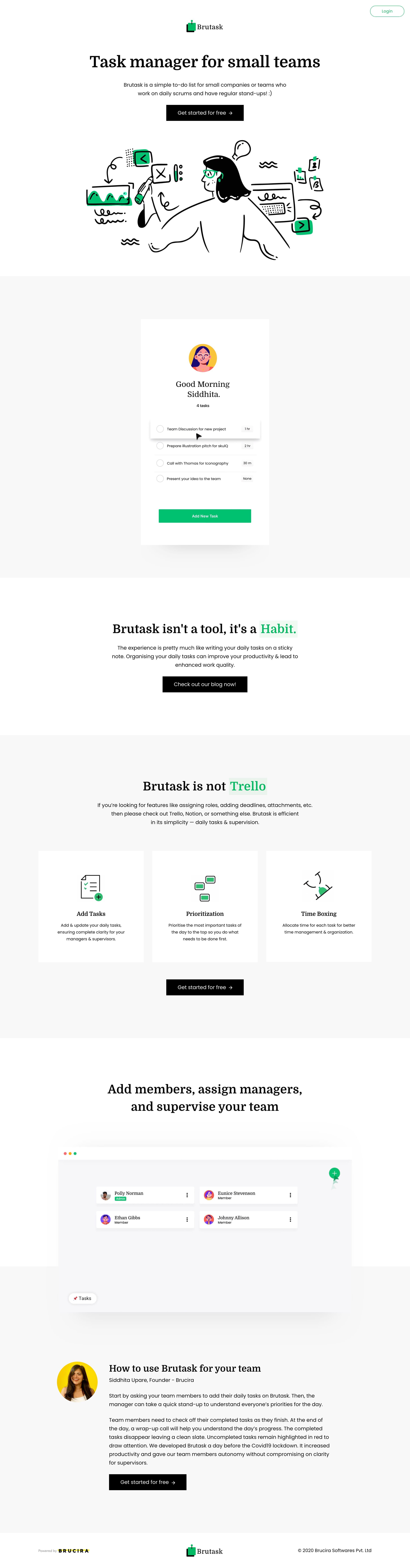 Brutask Website Screenshot