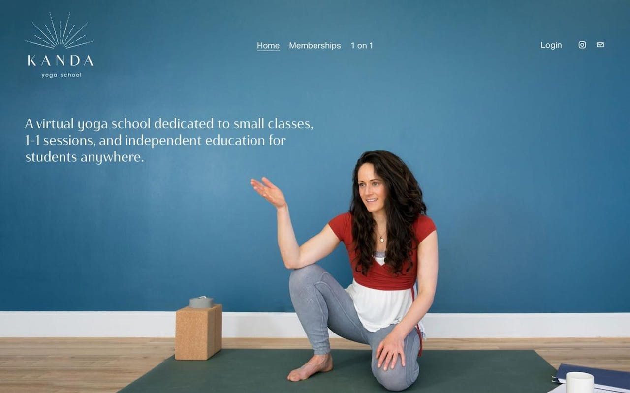 Squarespace Member Areas used for a Yoga Studio Screenshot